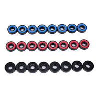8X  608RS Roller skate skateboard Scooters steel integrated spacers bearings MW