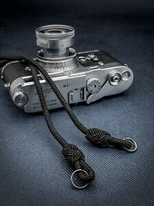 Camera Rope Neck Strap Black Sand designed by Tom Starsky 1987 for Leica M