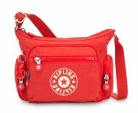 kipling New Classics Eyes Wide Open Gabbie S Small Crossbody Active Red Nc Rot
