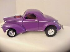 UNIQUE! 1941 DIE-CAST MUSCLE MACHINES PURPLE WILLY COUPE 1/18