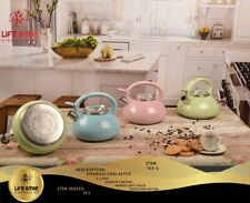 Life Smile 3 L Stove top Kettle, Whistling Stainless Steel Stove Kettle