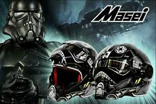 Masei 610 Star Wars TIE Fighter Pilot Black Motorcycle Bike Helmet Chopper New