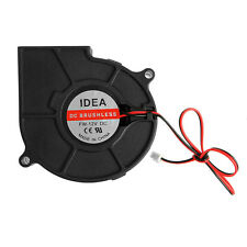 DC 12V 0.24A 2-Pin 75mmx30mm Computer PC Sleeve-Bearing Blower Cooling Fan 7530