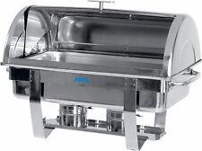 SARO Chafing Dish mit Rolldeckel inkl. 1/1 GN-Behälter Speisenwärmer Edelstahl