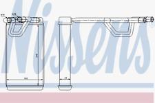 Wärmetauscher Innenraumheizung - Nissens 72209