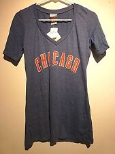 Chicago Cubs baseball T shirt women's Blue Large new with tags