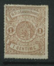 Luxembourg 1865 1 centime unused no gum