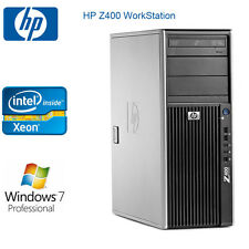 HP Z400 Workstation 4 CORES Xeon E5530 12GB RAM Win 7 pro 500G HDD video card