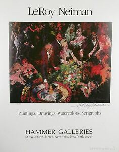 """Hammer Galleries """"International Roulette"""" by Leroy Neiman Signed Poster w/ CoA"""