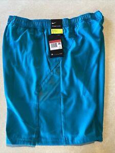 "Nike Court Dri-FIT 9"" Mens Tennis Shorts  Large Aqua Blue 939265-101"