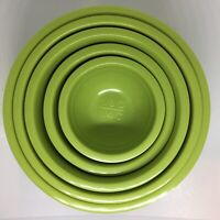 Authentic Rare Vintage True Melmac Avocado 5 Piece Nesting Measuring Cups/Bowls