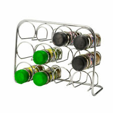 Pisa Chrome 12 Jar Spice Rack