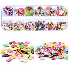 Nail Art Fimo Slices Fruit Candy Flowers Buttefly Cartoon Polymer 3D Decoration