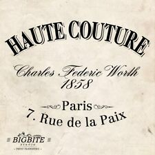 WATER DECAL: Vintage French Haute Couture Advert (Furniture Print Transfer) #006