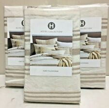 HOTEL COLLECTION, THREE Honeycomb Stripe, EURO Pillow Shams, NWD