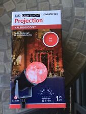 Gemmy Projection Spot Stake Light LED Indoor / Outdoor 20ft RED Kaleidoscope NEW