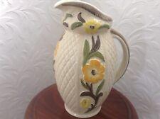 More details for vintage h.j wood jacobean handpainted jug no1253 cream floral design