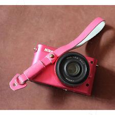 Rosa Cuero Correa Para La Muñeca Para Fujifilm Canon Nikon Pentax Panasonic Sony Samsung