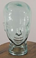 CLEAR Glass Head Face Mannequin Display Hat Wig Vintage Mid Modern Retro