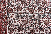 2.5 YARD Cotton Voile Material Beige Decorative Indian Hand Block Printed Crafts