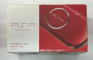 Radiant RED Sony PSP 3000 system Console with Box accessories Japan Import