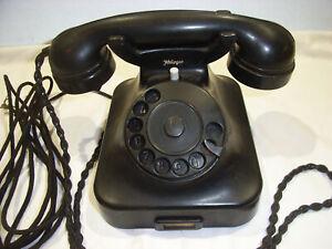 Altes Telefon HELIOGEN DDR  Bakelit Wählscheibe SELTEN Bakelit original Hörer