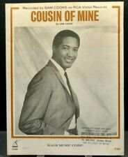 Cousin Of Mine Sheet Music Sam Cooke Piano Vocals Guitar 60s R&B Soul F2W