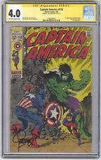 Captain America #110 CGC 4.0 VINTAGE Marvel Comic Signature Series Jim Steranko