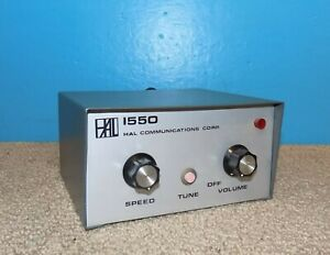 HAL 1550 Electronic Solid State Keyer Good Condition Free Shipping