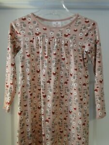 Hanna Andersson Pink Cotton Play Dress & Leggings size 130 US 8 EUC