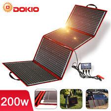 200W Faltbar Tragbar SolarPanel + 12V 20A Batterie Ladegerät Camping Wohnmobil