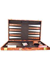 "15"" Brown & White Backgammon Set"