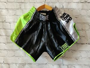 Shorts Leone 1947 Boxing Fightshorts Men Combat Muay Thai Black Kickboxing MMA M