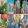 5D DIY Full Drill Diamond Painting Cactus Embroidery Mosaic Home Decor 30*40cm