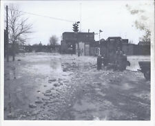 1950s PHOTO BREWSTER OH FLOOD & ICE DAMAGE AT SECOND ST W