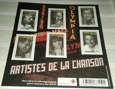 Bloc timbres Artistes de la chanson NEUF croix rouge Daniel BALAVOINE...