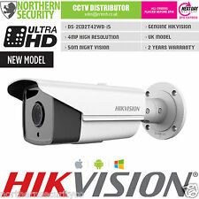 Hikvision DS-2CD2T42WD-I5 4MM 4MP 1080P WDR 50M IR Cámara Ip De Seguridad Bullet Poe