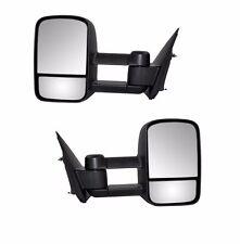 For 99-06 Silverado Sierra Pickup Towing Manual Telescoping Mirrors Black Set