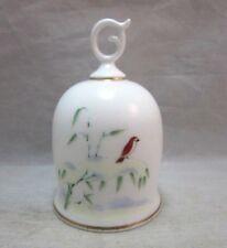 1986 Koransha porcelain mini bell.  Bird on snowy branch