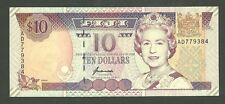 Fiji 10 Dollars Currency Note Pick #98b Paper Money Ten CU