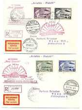 Russian Air Post Graf Zeppelin North Pole Card & Cover Full Set Stamps 1931 RARE