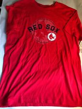 Red Boston Red Sox Ring Spun Soft 100% Cotton Short Sleeve T-Shirt Men's Small