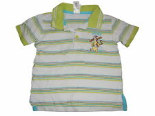 C & A Great Polo Shirt Size 86 Green Striped with Winnie Pooh Motif!!!