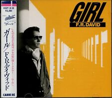 F.R. DAVID Girl MEGA-RARE FIRST PRESS JAPAN CD OBI Words Italo Disco Eurobeat
