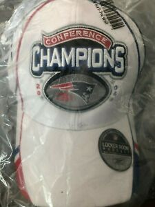 2004 New England Patriots Reebok AFC Champions Locker Room Hat - New Sealed Bag