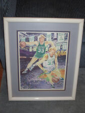 Larry Bird Autographed Artist Proof # 1 Custom Framed Lithograph