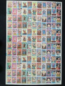 1986 Topps series 5 rare uncut sheet of 132 non die cut stickers