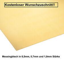 Messingblech in 0,5 mm, 0,7mm & 1,0 mm Stärke Messing Design KOSTENLOSER VERSAND