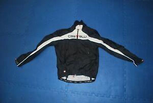 Castelli Rosso Corsa windstopper lightweight cycling jacket men's medium w/ vent