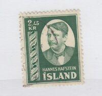 Iceland 1954 2.45Kr Hafstein Facit 238 VFU JK1989